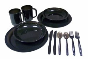 Coleman 2-person camping dinnerware set