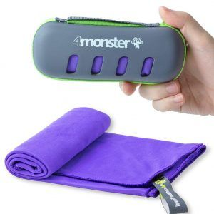 4monster Microfiber Towel for Camping, Hiking and Backpacking