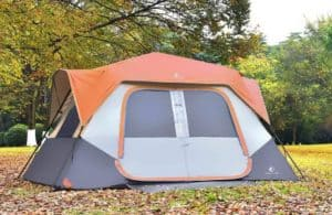 ALPHA CAMP Instant Cabin Tent Camping Traveling Family Tent Lightweight Rainfly with Mud Mat