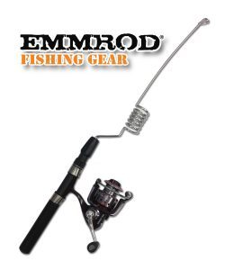 Emmrod Packrod Fishing Combo 6 Coil Spinning Pole w DCM Open Face Reel