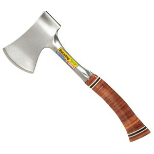 Estwing Sportsman's Axe - 14 Camping Hatchet with Forged Steel Construction & Genuine Leather Grip