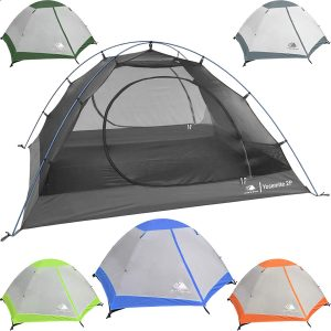 Hyke & Byke Yosemite 1 and 2 Person Backpacking Tents with Footprint