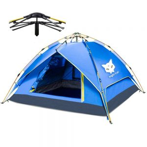 Night Cat Camping Tent 2 3 4 Person Easy Instant Pop Up Tent Automatic Hydraulic Double Layer