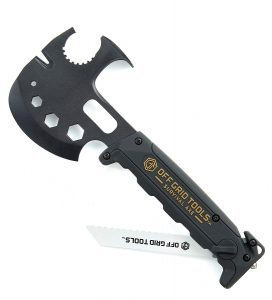 Off Grid Tools Survival Axe Ultimate Outdoor Multitool-Hatchet Hammer Saw