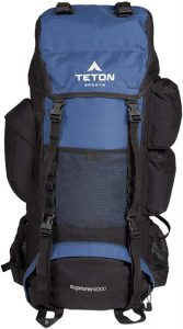Teton Sports Explorer 4000 Internal Frame Backpack – Not Your Basic Backpack High-Performance Backpack for Backpacking, Hiking,Camping Sewn-in Rain Cover