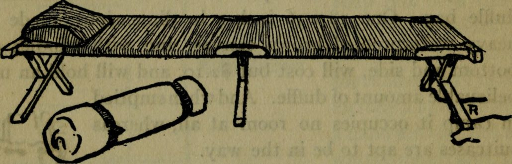 Drawing of an old fashioned cot