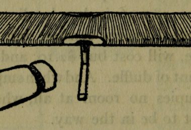 Drawing of an old fashioned double cotcot