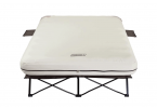 coleman queen air mattress folding cot with side table and 4d battery pump review